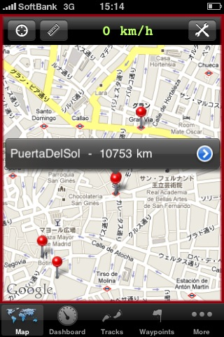 iPhoneを旅先の地図として使う